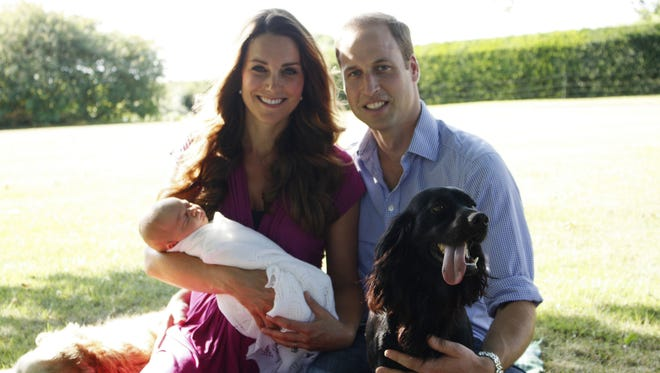 Duchess Kate's father, Michael Middleton, took the first official portrait of Prince George.