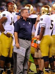 Notre Dame Fighting Irish head coach Brian Kelly talks