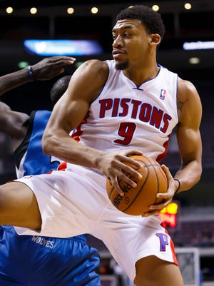 Pistons forward Tony Mitchell is stuck behind a deep rotation at the 3 and 4.