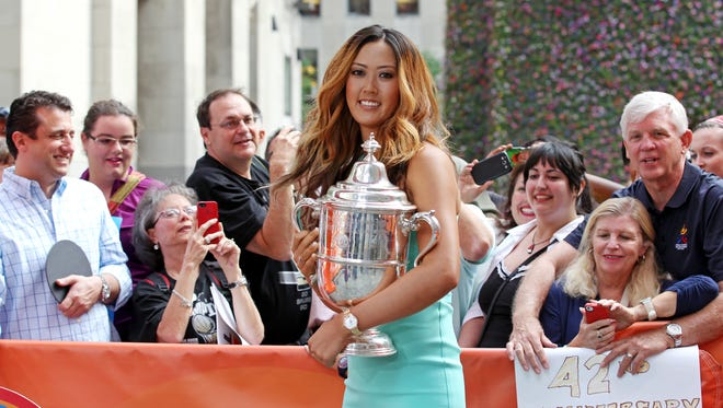 """U.S. Women's Open winner Michelle Wie on the set of NBC's """"Today"""" show June 24 during her media tour."""