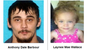 Anthony Dale Barbour, 25, and Laynee Mae Wallace, 2,