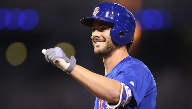 Kris Bryant leads the Cubs with 39 home runs.