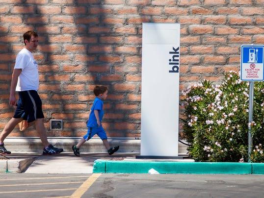Blink charging station