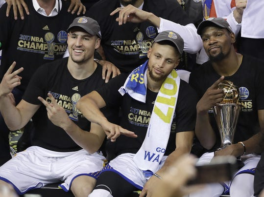 Klay Thompson,Stephen Curry,Kevin Durant