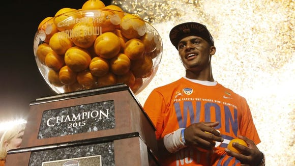 Deshaun Watson will lead Clemson into national championship game Jan. 11 against Alabama.