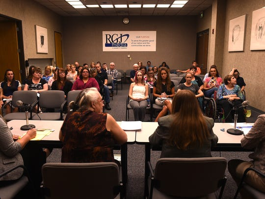 The Reno Gazette-Journal hosts a special education parent forum at the newspaper's building in Reno on Aug. 3, 2016.
