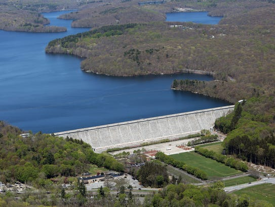 The Kensico Dam and Reservoir.
