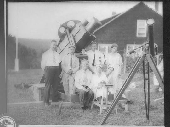 Cincinnati astronomers in New Hampshire, ready to observe