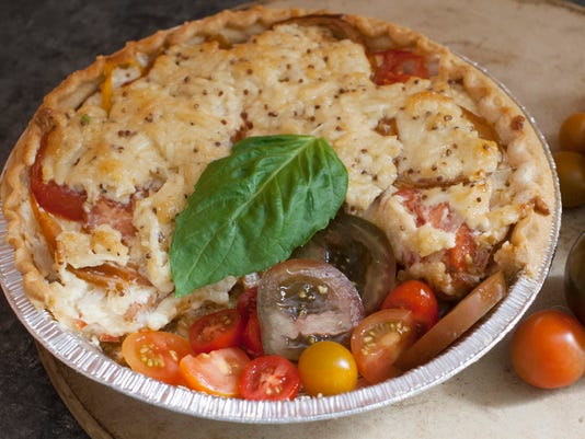 Food American Table Tomato Pie