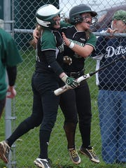 Yorktown defeated Brewster 6-4 in a girls softball game at Brewster High School May 5, 2016.