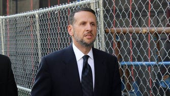 David Wildstein enters federal court to testify in the Bridgegate trial on Friday, Sept. 23, 2016.