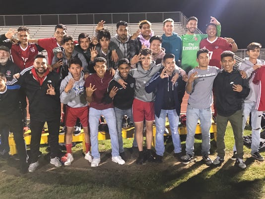 Hueneme High boys soccer PVL champion