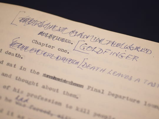 Original typescript, with manual corrections, of Goldfinger,