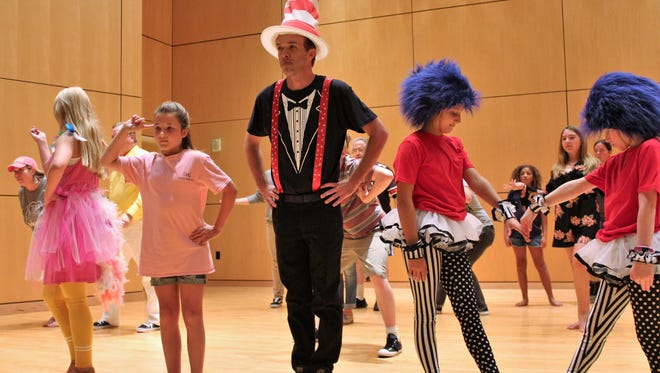 """The Cat in the Hat (Keith May) always seems to be in the center of things in Dr. Seuss books. He's all that and more in """"Seussical,"""" a musical based on Seuss stories that opens Friday at the Naoma Huff Performing Arts Center on the Clyde High School campus."""