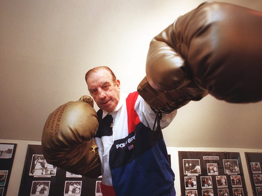 Steve Acunto has been a boxer, trainer, judge and executive in the boxing industry for many years. At his home in Mount Vernon, he built a museum/library of boxing memorabilia.