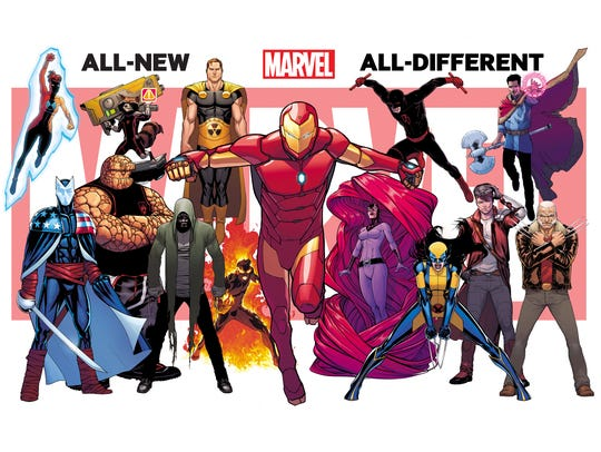 The Marvel relaunch features a variety of characters