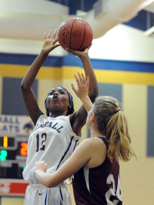 Sumrall freshman Akele Parkman shoots for the basket in a game against FCAHS on Tuesday in Sumrall.