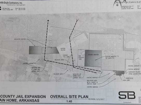 An architectural rendering of the proposed Baxter County
