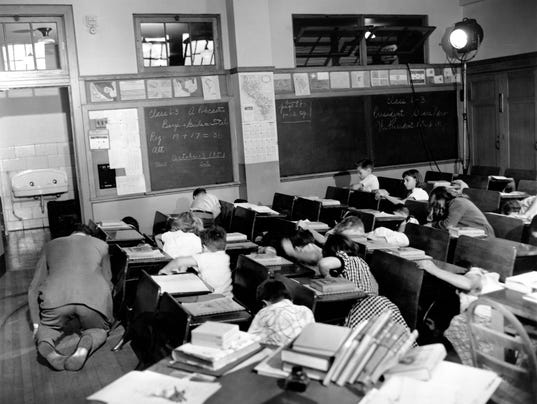 Classroom Duck and Cover Drill