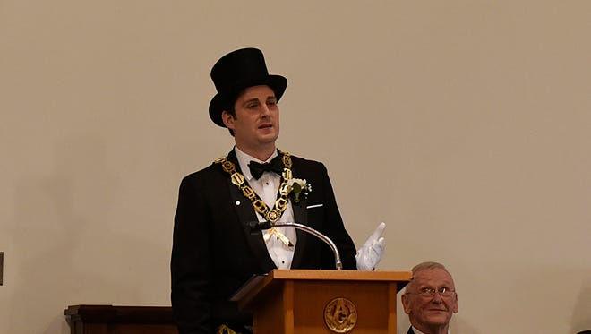 Matt Wilde, 33, will serve as Worshipful Master of the Birmingham Masonic Lodge No. 44 in 2017.