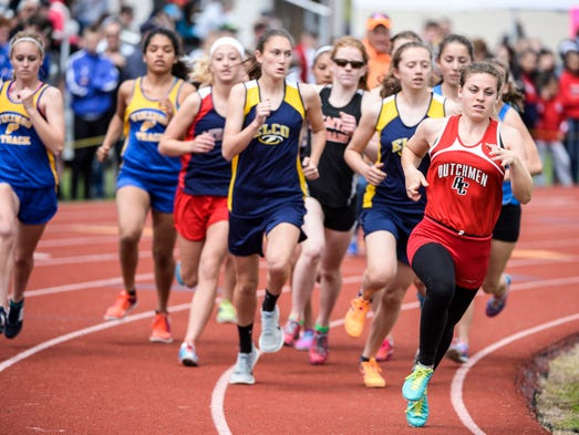 Annville-Cleona's Courtney Conners leads the pack at
