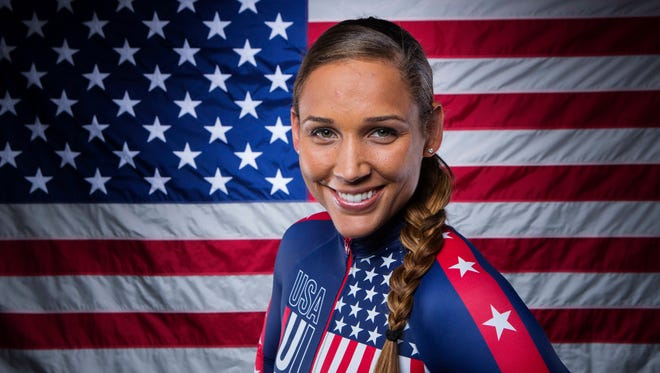 Lolo Jones poses for a portrait during the 2013 U.S. Olympic Team Media Summit.