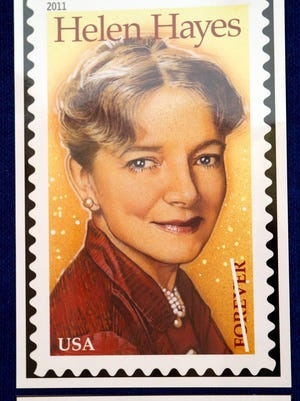 The Helen Hayes commemorative stamp was unveiled in a ceremony at Helen Hayes Hospital in West Haverstraw in 2011. The rehabilitative facility was named for Hayes, a longtime member of the board of visitors.