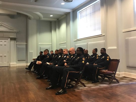 Montgomery on Friday promoted 23 men and women in police