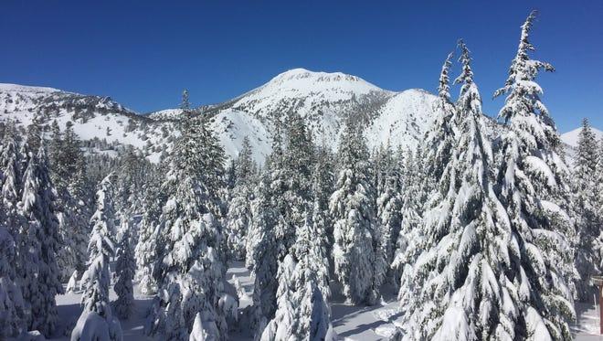 Mt. Rose, the highest peak in Washoe County, as viewed from the Mt. Rose Ski Tahoe resort on Feb. 1, 2016.