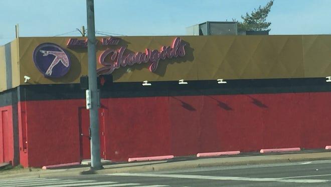 Deja Vu Showgirls Nashville is across from the 1201 Demonbreun office building construction site.