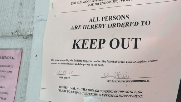Keep Out order posted on Remington Parkway house in