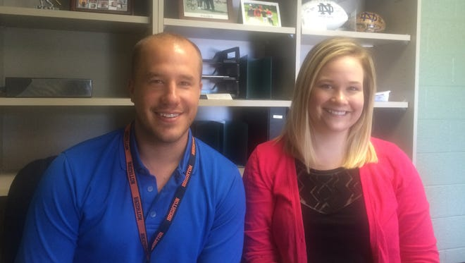 Ken Grybel II and Alyssa Trybus are in charge of recreation and enrichment programs, respectively, for Brighton Area Schools.