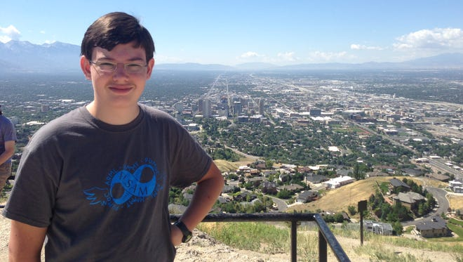 Graham O'Donnell in Utah at a National Mu Alpha Theta competition.
