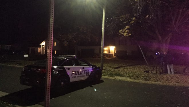 A 57-year-old man was shot multiple times in his lower body Thursday at a home on Saddlehorn Drive in Greece.