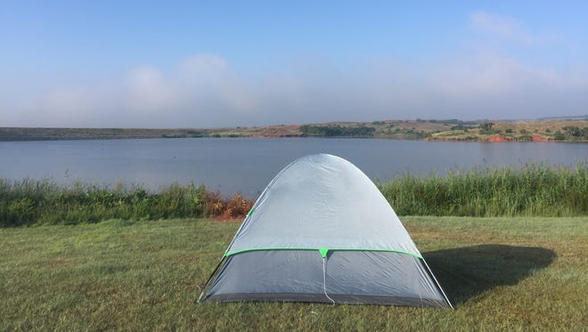 The Black Kettle National Grassland (Oklahoma) along the shores of Dead Warrior Lake made for a scenic campsite for columnist Daniel Anduze.
