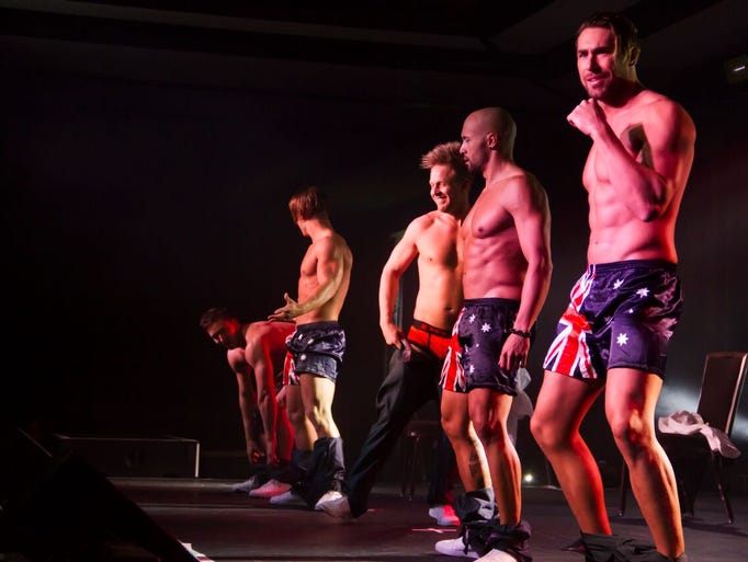 The Aussie men of Thunder from Down Under performed