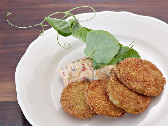 The fried green tomatoes with pimento cheese from Southern