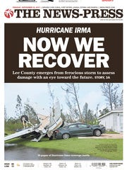 Front page of The News-Press (Fort Myers) on Sept.