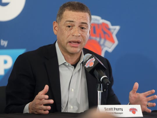 Knicks general manager Scott Perry