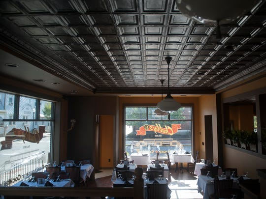 Interior of Chubby's Steakhouse in Gloucester City, an upscale experience with an appealing bar.