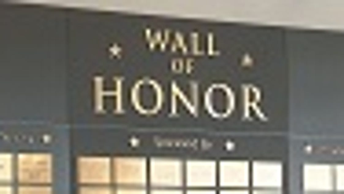 naval park adds three names to wall of honor