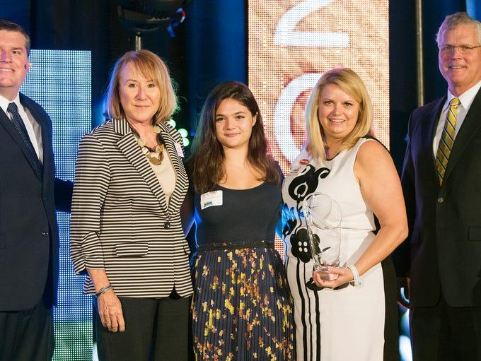 Meg Geltner, second from left, Mara McKinney and Diana