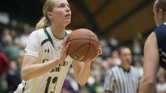 CSU guard Ellen Nystrom, shown in a game earlier this season, had eight points and 10 rebounds in a win over Morgan State Friday afternoon.