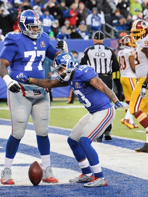 Giants receiver Odell Beckham Jr. has angered some opponents with his post-touchdown celebrations.