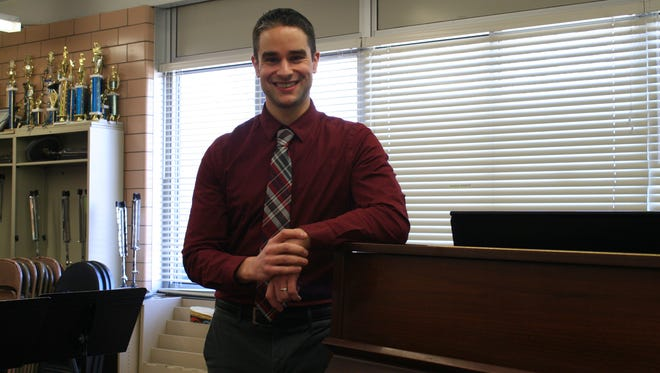 Robert Bickford, 32, is fourth- and fifth-grade instrumental teacher at Buckman Heights in Greece.