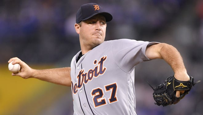 Tigers pitcher Jordan Zimmermann went 17-20 with a 5.60 ERA and a 1.477 WHIP in his first two seasons with the team.