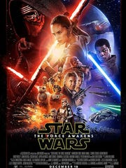 "The theatrical poster for ""Star Wars: The Force Awakens."""
