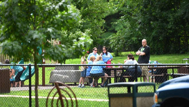 Some of the members of Mahwah Strong are seen at Winter's Park in Mahwah on Sunday.