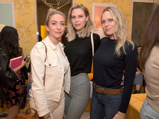 Founder and CEO of Bumble Whitney Wolfe Herd, left,