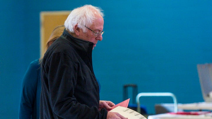 Bernie and Jane Sanders cast votes in New North End